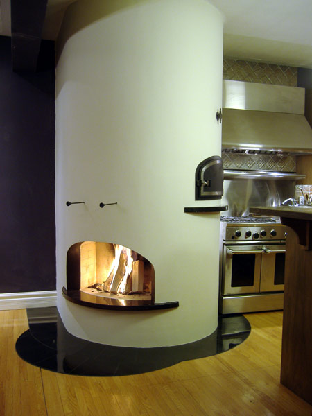 Bake Oven / Fireplace Combo by Alex Chernov :  oven biomass chernov bread making