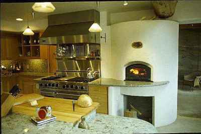 custom domestic bake oven / fireplace