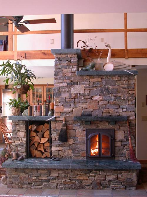 Masonry stove builders heatkit masonry heater by william for New construction wood burning fireplace
