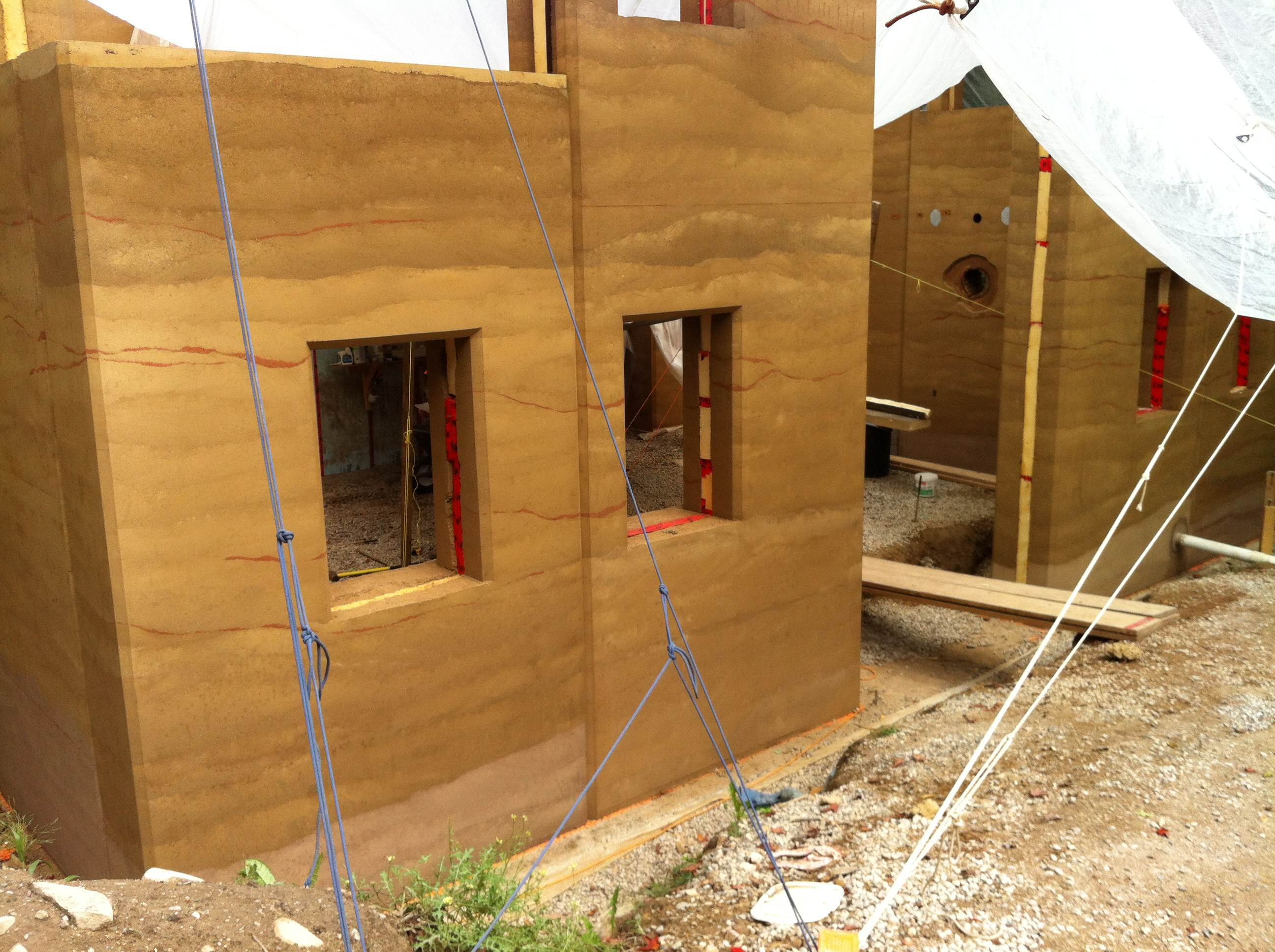 Rammed Earth Progress Photo, ...