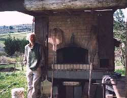 Allan Scott with his home oven